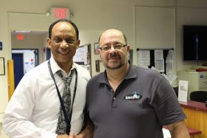 Howard Carter of George T. Baker Aviation School & Gregory Cecil of Schools-to-Space